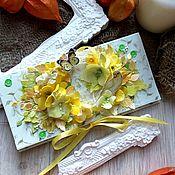 Подарочные конверты ручной работы. Ярмарка Мастеров - ручная работа Цвет настроения - желтый. Handmade.