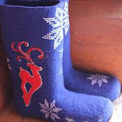 """Обувь ручной работы. Ярмарка Мастеров - ручная работа Валенки """"Скандинавские"""" ручной валик,  подшитые каучуком. Handmade."""