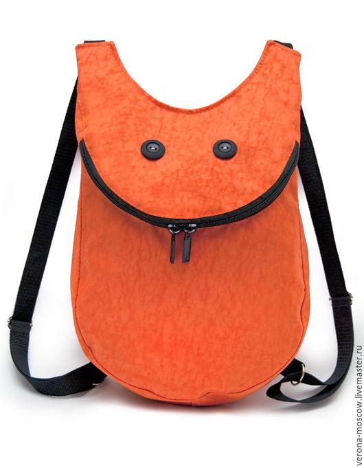 Рюкзаки ручной работы. Ярмарка Мастеров - ручная работа. Купить Рюкзак Смайл Orange. Handmade. Оранжевый, рюкзак, рюкзак для девочки