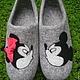 Обувь ручной работы. домашние валяные тапочки из натуральной шерсти Мики+Мини. Кэт & Ко (6116466). Интернет-магазин Ярмарка Мастеров.