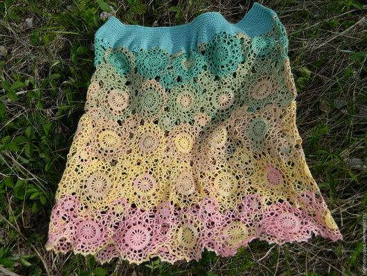 """Юбки ручной работы. Ярмарка Мастеров - ручная работа. Купить Юбка """"Цветочная рапсодия"""". Handmade. Комбинированный, юбка модная"""