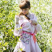 Одежда ручной работы. Ярмарка Мастеров - ручная работа Платье-рубашка с открытыми плечами и съемным поясом. Handmade.