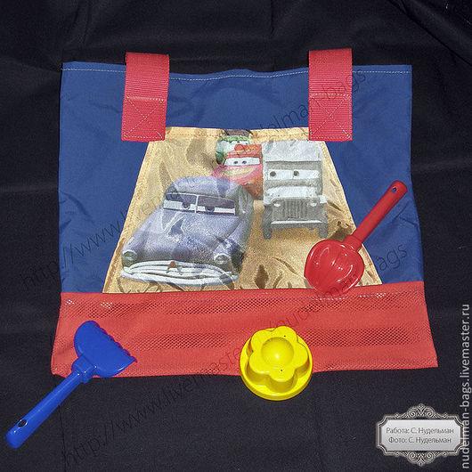 Сумка для песочницы, сумка для игрушек, сумка для сменной обуви,сумка пляжная, мешок для сменной обуви, сумка для сменки, тачки