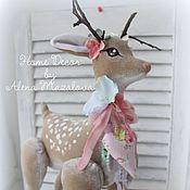 Подарки к праздникам ручной работы. Ярмарка Мастеров - ручная работа Весенние Шебби  оленята. Handmade.