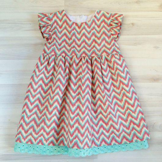 """Одежда для девочек, ручной работы. Ярмарка Мастеров - ручная работа. Купить Платье """"радужный зигзаг"""". Handmade. Платье, платье летнее"""
