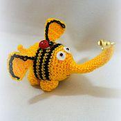 Куклы и игрушки ручной работы. Ярмарка Мастеров - ручная работа Смешной Слоник. Handmade.
