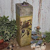 Для дома и интерьера ручной работы. Ярмарка Мастеров - ручная работа Подрочный короб для бутылки. Handmade.