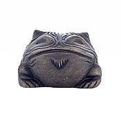 Статуэтка ручной работы. Ярмарка Мастеров - ручная работа Фигурка ручной работы из камня Лягушка рогатая. Handmade.