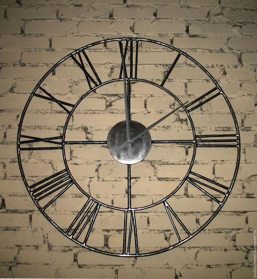 Часы для дома ручной работы. Ярмарка Мастеров - ручная работа. Купить Часы настенные большие, кованые.. Handmade. Серебряный