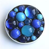 Украшения handmade. Livemaster - original item Brooch Bubbles of glass blue color. Handmade.