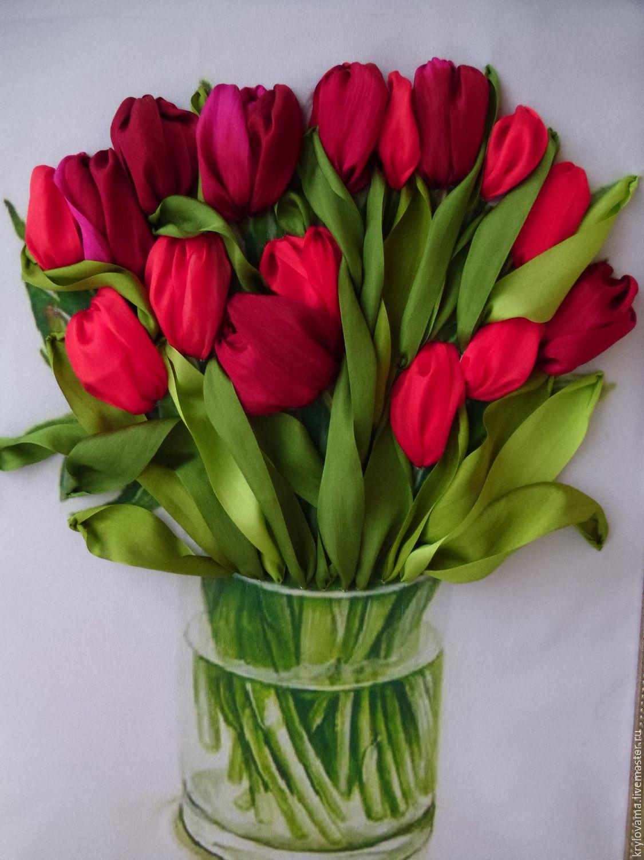 Вышивание лентами тюльпаны где купить сборник песен подарок любимой женщине