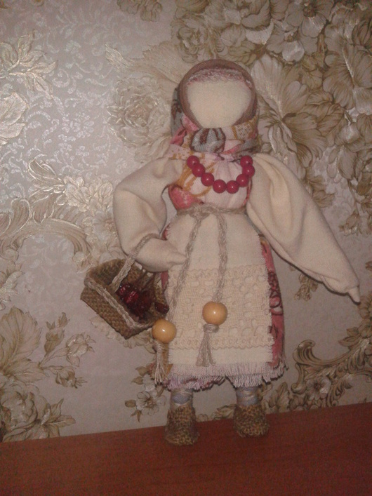 Народные куклы ручной работы. Ярмарка Мастеров - ручная работа. Купить кукла Рябинка. Handmade. Розовый, ручная работа handmade