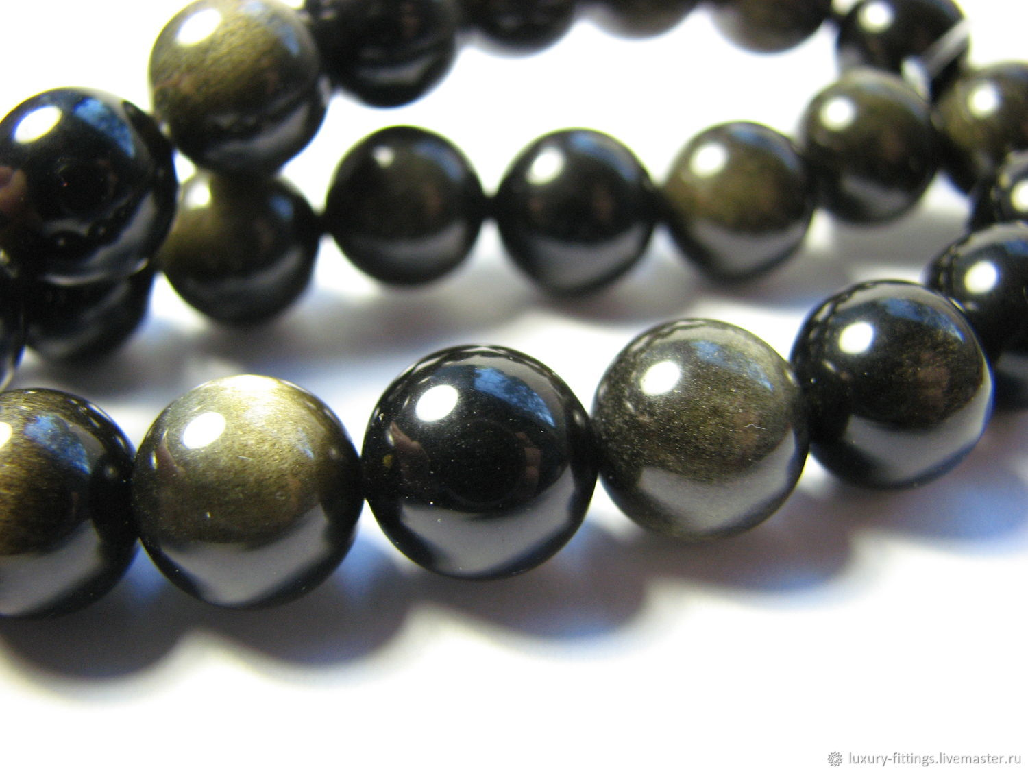 Obsidian 10 mm, Beads1, Moscow,  Фото №1