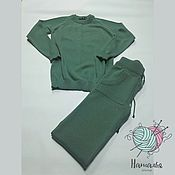 Одежда ручной работы. Ярмарка Мастеров - ручная работа Персидский зелёный. Костюм меринос с кашемиром.. Handmade.