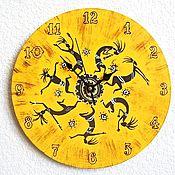 Для дома и интерьера handmade. Livemaster - original item Africa Hand-painted Wall Clock. Handmade.