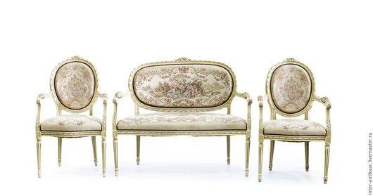 Мебель ручной работы. Ярмарка Мастеров - ручная работа. Купить Набор мебели с пасторальными мотивами в стиле классицизм.9ПК1020. Handmade.