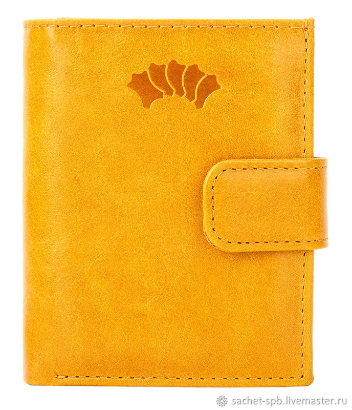 Leather purse 'Germany' (yellow), Wallets, St. Petersburg,  Фото №1