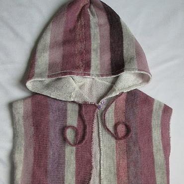 Clothing handmade. Livemaster - original item Womens vest hooded double. Handmade.