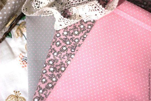 Шитье ручной работы. Ярмарка Мастеров - ручная работа. Купить Набор тканей для рукоделия Серо-Розовый. Handmade. Ткань для рукоделия