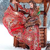 """Одежда ручной работы. Ярмарка Мастеров - ручная работа """"Букеты де Флёр"""" платье в Русском стиле. Handmade."""