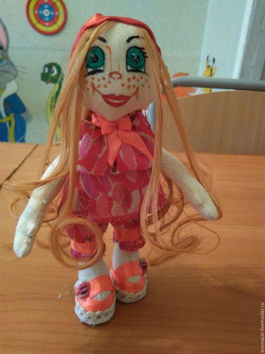 Куклы Тильды ручной работы. Ярмарка Мастеров - ручная работа. Купить Рыжулька Нэнси. Handmade. Бордовый, кукла, тильда кукла