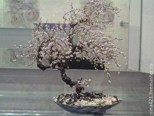 Элементы интерьера ручной работы. Ярмарка Мастеров - ручная работа. Купить сакура. Handmade. Розовый, гипс