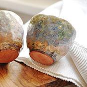 """Посуда ручной работы. Ярмарка Мастеров - ручная работа две чашки """"Сады Моне"""". Handmade."""