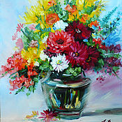 Картины и панно handmade. Livemaster - original item Summer bouquet. Handmade.