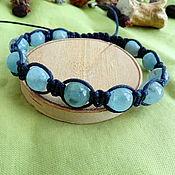 Украшения handmade. Livemaster - original item Aquamarine Bracelet-shambhala. Handmade.