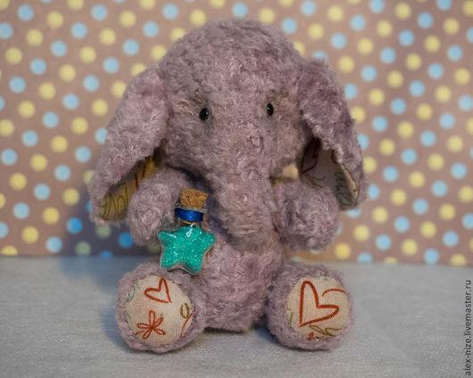 Мишки Тедди ручной работы. Ярмарка Мастеров - ручная работа. Купить Слонёнок Иннокентий. Handmade. Сиреневый, друзья тедди
