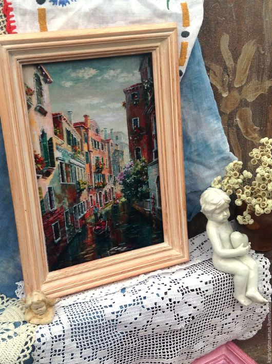 Город ручной работы. Ярмарка Мастеров - ручная работа. Купить Картина на холсте. Венеция. Handmade. Венеция, пейзаж с водой