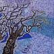 Пейзаж ручной работы. Картина Рассвет выполненная на хб ткани в технике горячего батика. Мария. Ярмарка Мастеров. Дерево, рассвет