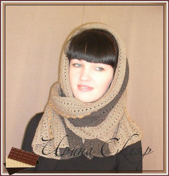 шарф вязаный, зимняя мода