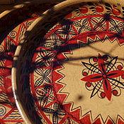 Русский стиль handmade. Livemaster - original item Set of two clay plates