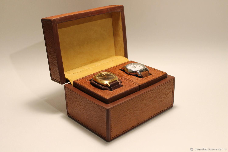 Leather watch storage box, Canisters, Samara,  Фото №1