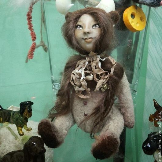 Коллекционные куклы ручной работы. Ярмарка Мастеров - ручная работа. Купить Мара (мишко-кукла). Handmade. Коричневый, подарок на новый год