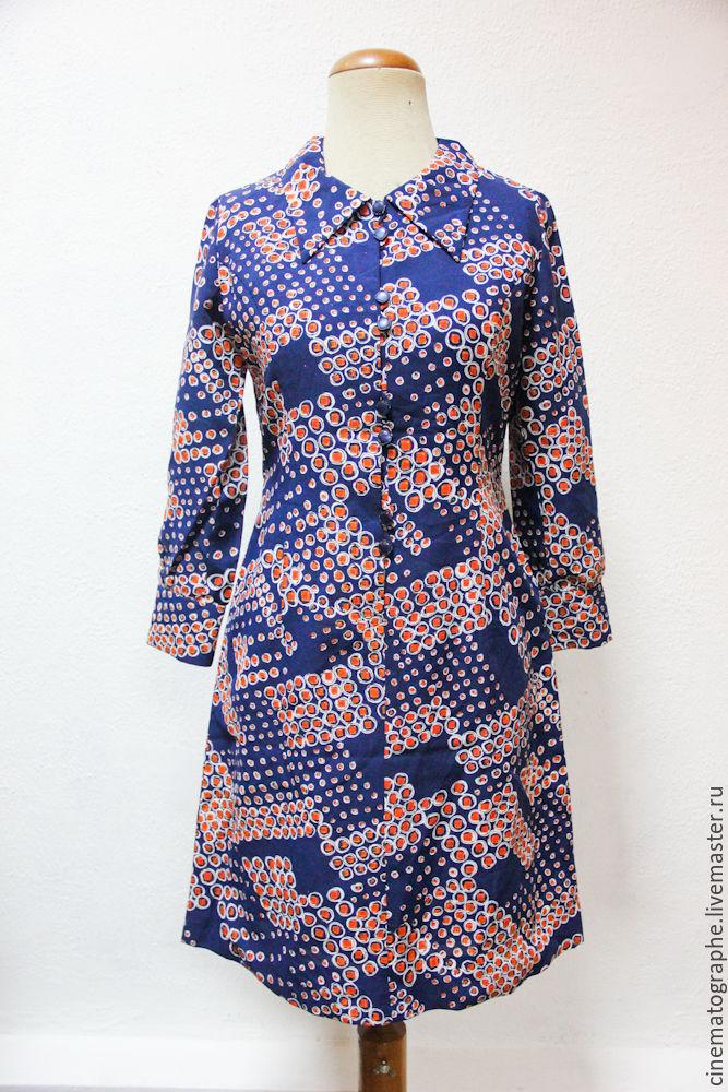 Винтаж: Платье 60-е годы винтажное контрастное, Одежда винтажная, Москва,  Фото №1