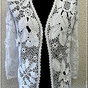 """Одежда ручной работы. Ярмарка Мастеров - ручная работа Жакет """"Цветы из снега"""". Handmade."""