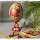 Яйца ручной работы. Ярмарка Мастеров - ручная работа. Купить Яйцо пасхальное 8см. Handmade. Пасха, пасхальный сувенир, яйца