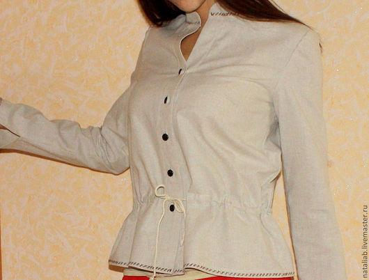"""Блузки ручной работы. Ярмарка Мастеров - ручная работа. Купить Блузка льняная """"Стойка2"""". Handmade. Белый, льняные изделия, блузка"""