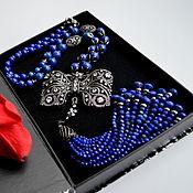 Украшения handmade. Livemaster - original item Lapis lazuli Afghan Necklace with a tassel COCETT Authors work. Handmade.