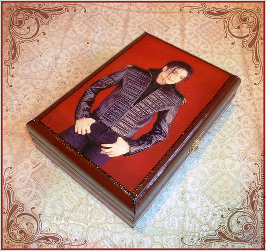 """Шкатулки ручной работы. Ярмарка Мастеров - ручная работа. Купить """"Майкл Джексон"""" купюрница. Handmade. Майкл джексон, купюрница"""