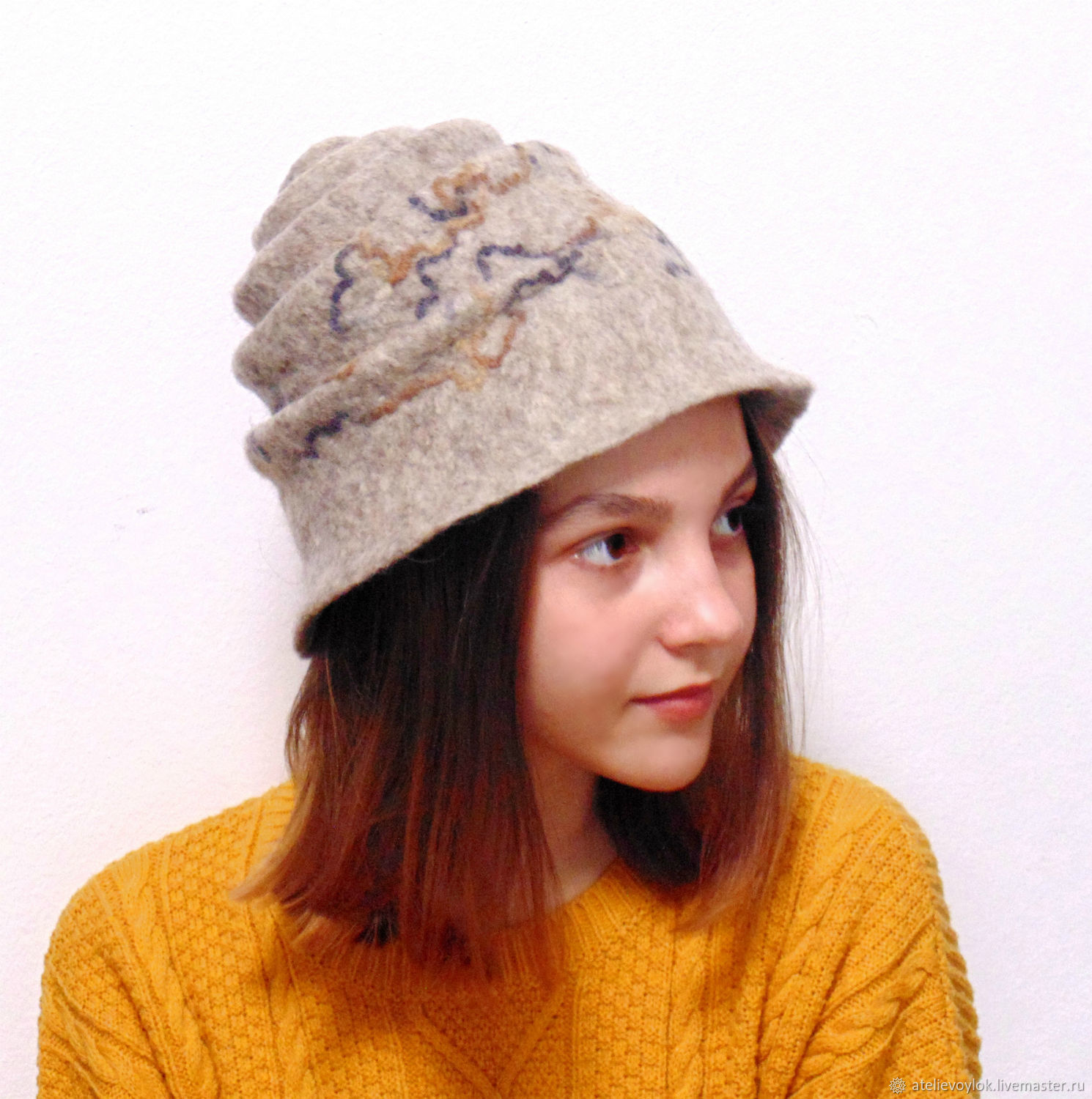 Snail hat, wool felted, Hats1, Rostov-on-Don,  Фото №1