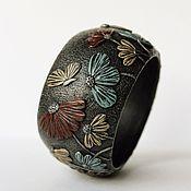 Украшения handmade. Livemaster - original item A wide bracelet made of polymer clay Summer day. Handmade.