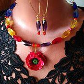 Украшения handmade. Livemaster - original item Crystal necklace