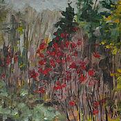 Картины и панно ручной работы. Ярмарка Мастеров - ручная работа Рябина в осеннем лесу. Handmade.