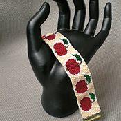 """Украшения ручной работы. Ярмарка Мастеров - ручная работа Браслет """"Красное яблоко"""". Handmade."""