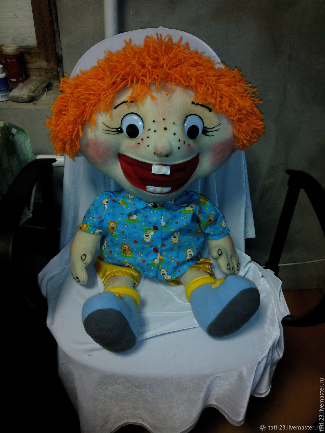 Redhead-Ginger-Freckles. Doll speech therapy, Stuffed Toys, Voronezh,  Фото №1