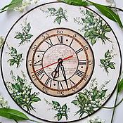 Для дома и интерьера ручной работы. Ярмарка Мастеров - ручная работа Часы настенные Ландыши. Handmade.