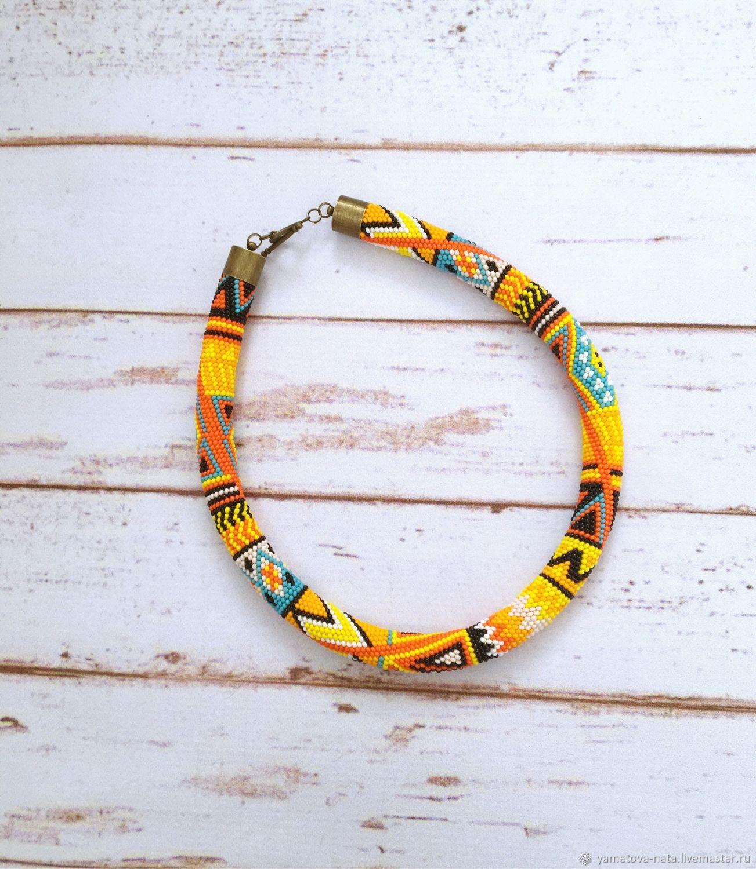 Bead harness 'Hot summer», Necklace, Abakan,  Фото №1